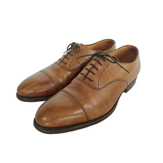 Crockett & Jones Whitehall Handgrade Tan Oxford shoes