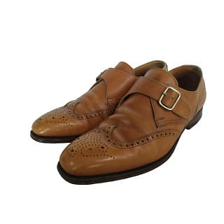 Crockett And Jones Chalfont Monk Strap Wingtip Shoes