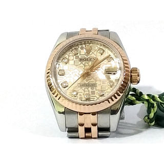 Rolex 18kt Gold & Stainless DateJust Silver Jubilee Diamond 79173 watch