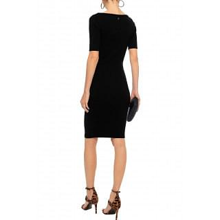 Versace Collection Paneled pointelle-knit dress
