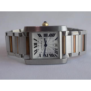 Cartier Tank Francaise Large Steel Watch
