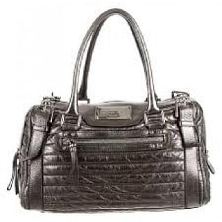 Dolce & Gabbana Miss Easy Silver Leather Satchel