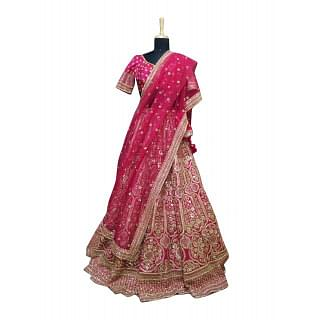 Sabyasachi Hot Pink Bridal Lehenga Set