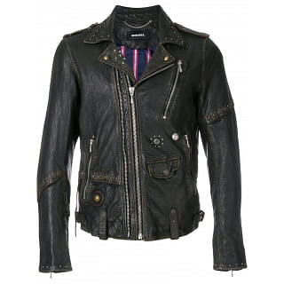 Diesel L Slate Giacca Leather Jacket
