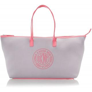 DKNY Pink And Grey Neoprene Travel Tote