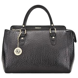 DKNY Black Beekman Satchel Bag for Women - Leather