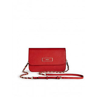 DKNY Saffiano Leather Flap Crossbody Bag