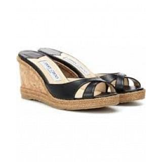 Jimmy Choo Almer Leather Wedge Sandal