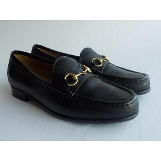 Gucci Women's Black Leather Horsebit Loafers 37