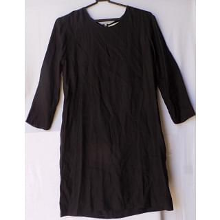 Stella Mc cartney black silk shift dress