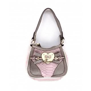 Guess Grey and Pink Handbag