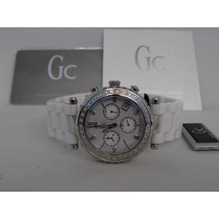 GC White Ceramic Dial Diamond Watch