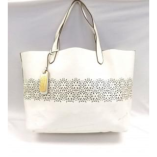 Ralph Lauren Chantilly Classic Lawn Leather Tote