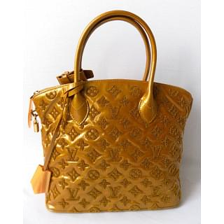 Louis Vuitton Limited Edition Perrier Monogram Fascination Lockit Yellow Tote Bag