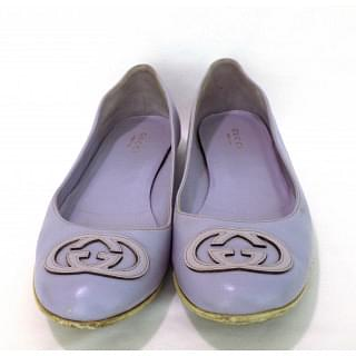Gucci 184886 Purple Flats