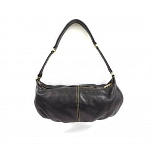 Liz Claiborne Black Leather Pebbled Shoulder Bag