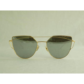 Gentle Monster Love Punch Aviator-style Gold-tone Sunglasses