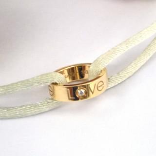 CARTIER Mini Love Ring Charm 18k Gold Bracelet