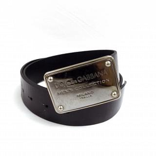 Dolce & Gabbana Logo Plaque Belt