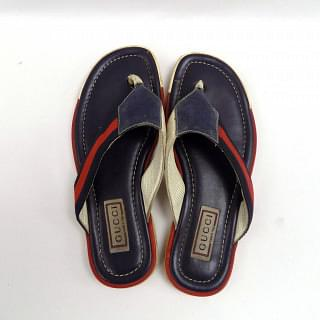 Gucci Red & Navi Blue Slippers