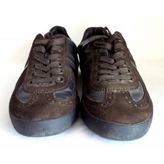 Canali Brown Suede Sneaker