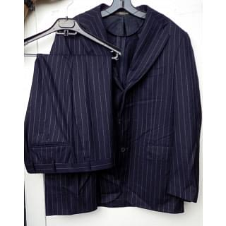 Corneliani Gray Striped Wool Jacket Pants SUIT Mens