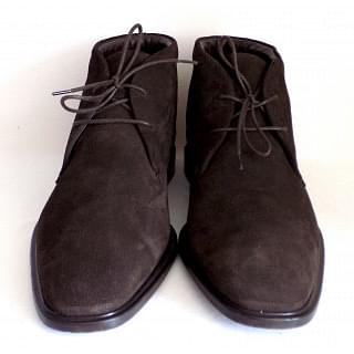 Tods Polacco Gray Lace-up Chukka Men Ankle Boots