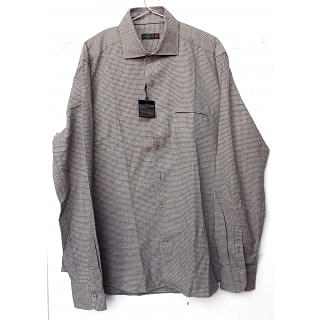 Corneliani ID Brown Checks Shirt