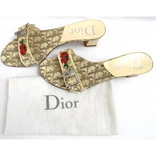 Christian Dior Taupe/Multi Sandals
