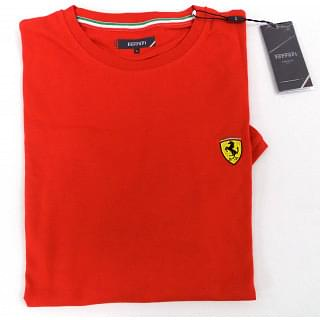 FERRARI Men SF JERSEY - PIQUET BICOLOR T-SHIRT RED