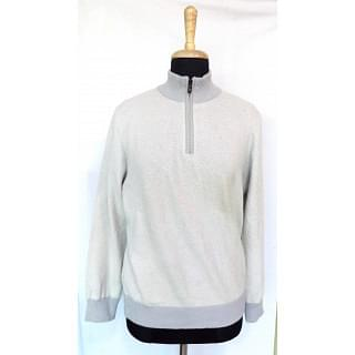 Canali Melange Wool Half-zip Sweater