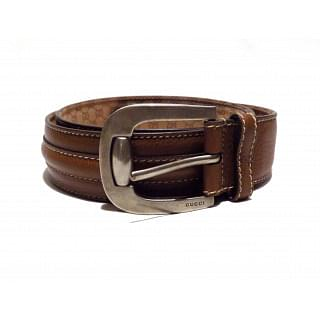 Gucci Brown Leather Mens Belt