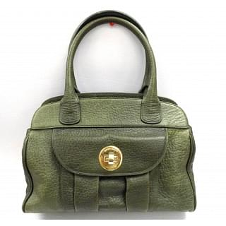Giorgio Armani Green Leather Handbag