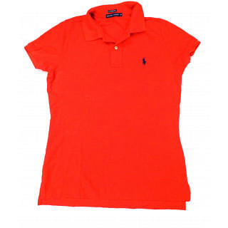 Ralph Lauren Slim Fit Polo T-shirt In Red