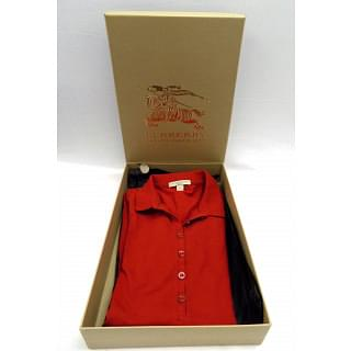 Burberry Brit Women's Polo Shirt red