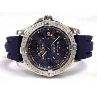 Breitling Colt GMT 40.5mm Stainless Steel Silver Date A32350 Watch