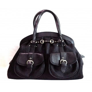 My Dior Frame Black Diorissimo Pocket Satchel