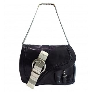 Christian Dior Limited Edition Leather and Metal Small Gaucho Bag