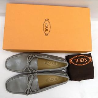 Tod's Silver Heaven Laccetto Metallic Leather Driving Moccasins