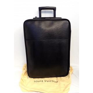 Louis Vuitton Black Epi Leather Pegase 55 Suitcase
