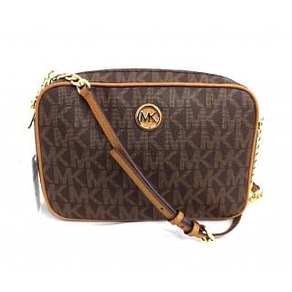 Michael Kors Fulton Signature Brown/Acorn Large EW Crossbody