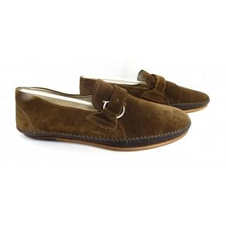 Salvatore Ferragamo Bastiano Suede Moccasin Shoes
