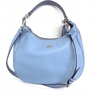 Coach Harley Large Blue Leather Hobo Bag