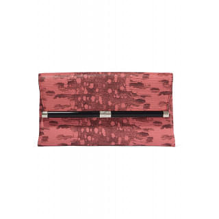 DvF Coral Snake Effect Leather Clutch