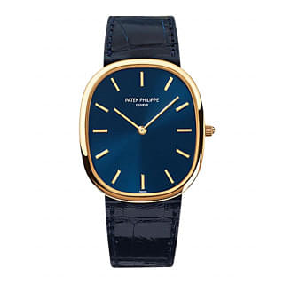 PATEK PHILIPPE Golden Ellipse 18kt Yellow Gold Blue Men's Watch