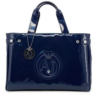 Armani Jeans Patent East West Logo Tote