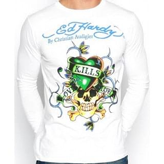 Ed Hardy Love Kills Slowly T-shirt By Christian Audigier