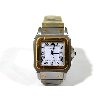 Cartier Santos Or Et Acier 18k Yellow Gold Stainless 29mm W20058c4 Watch