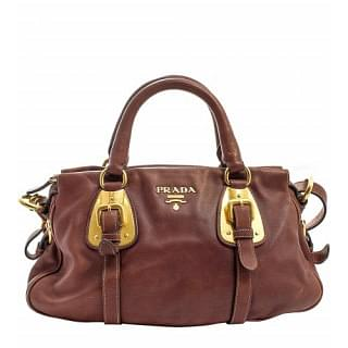 Prada Bauletto Soft Calf Leather Satchel