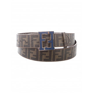 Fendi Brown Zucca Canvas FF Buckle Belt